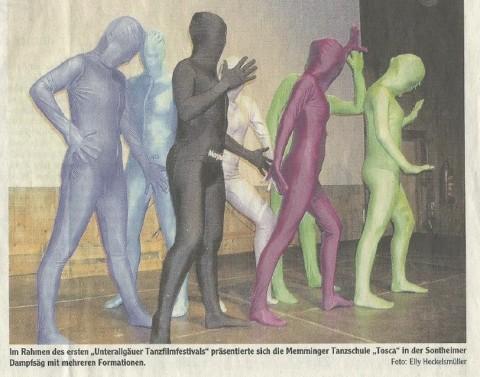 Dancing School Tosca auf dem 1. Unterallgäuer Tanzfilmfestival