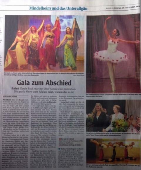Schöner Bericht in der Mindelheimer Zeitung