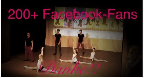 Danke an über 200 Facebook Fans